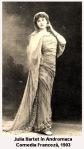 istoria teatrului francez actrite celebre julia bartet andromaca racine comedia franceza1903