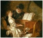 fragonard lectia de muzica1769