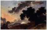 fragonard Mountain Landscape at Sunset c1765