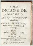 rimas lope de vega 1609  pagina degarda