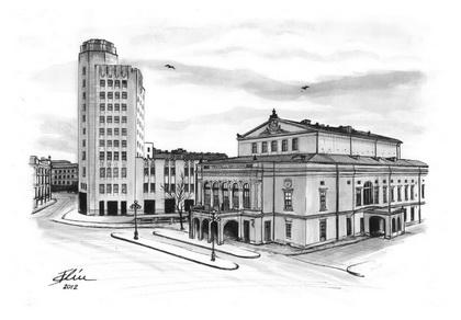 desenatori contemporani  bogdan calciu teatrul national palatul telefoanelor bucuresti