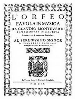 Editia princeps orfeu claudio monteverdi